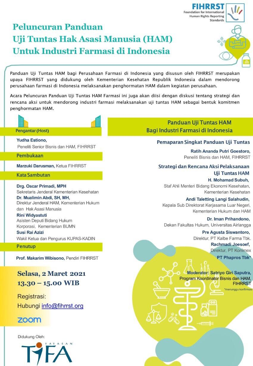 Guidelines for Human Rights Due Diligence Pharmaceutical Industries Event